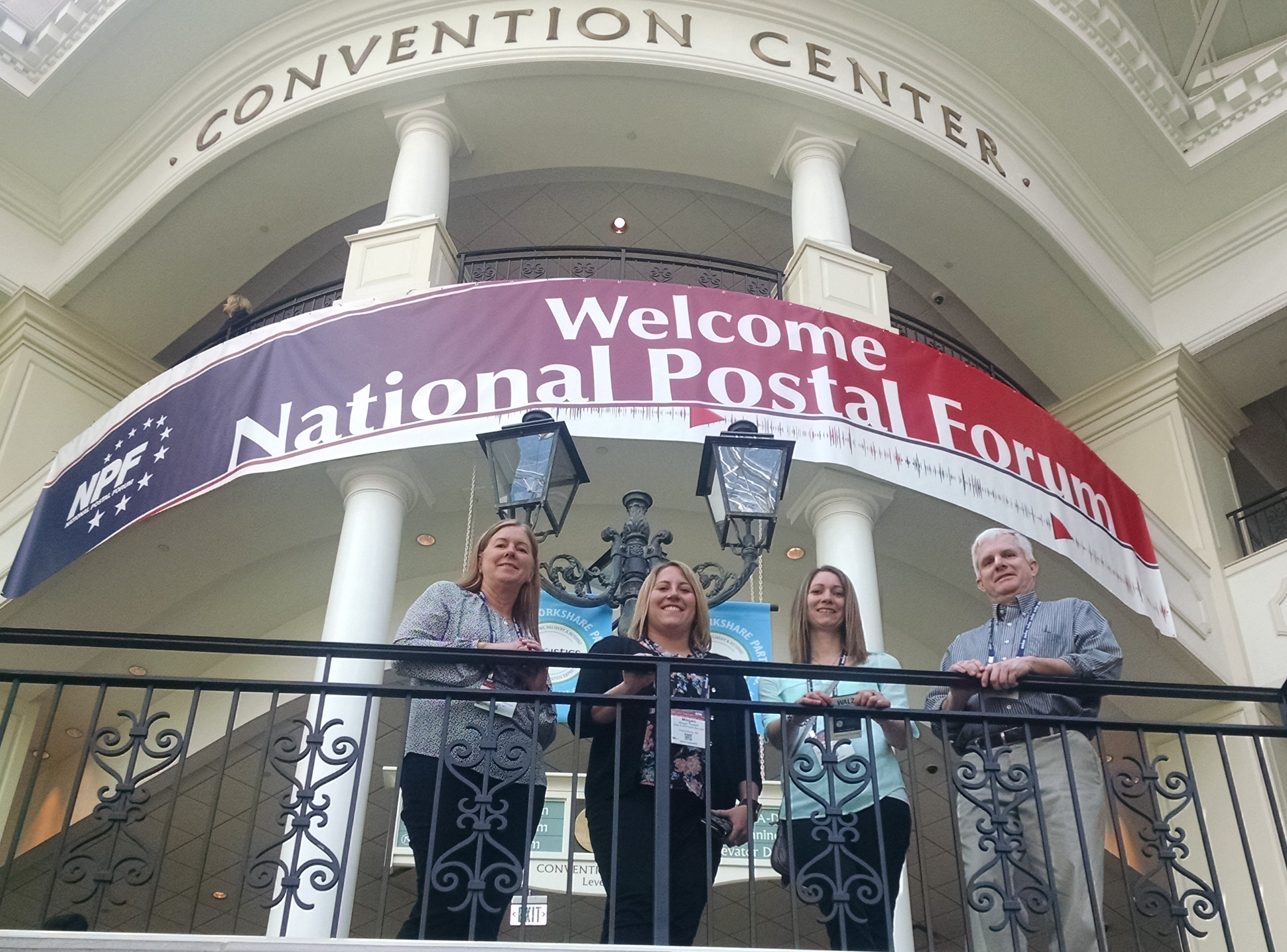 5 associates from Sisk attended the USPS National Postal Forum in Nashville, TN